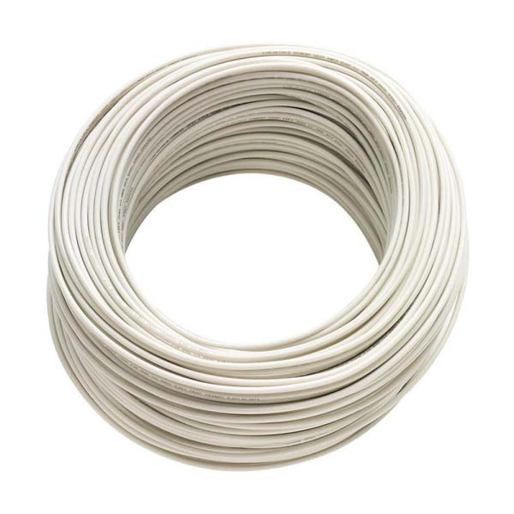 Cable 2X24 Blanco rollo 100m.