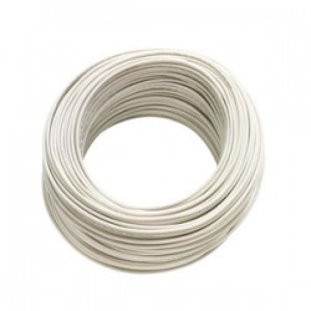 Cable Pin 4 Blanco rollo 100m.