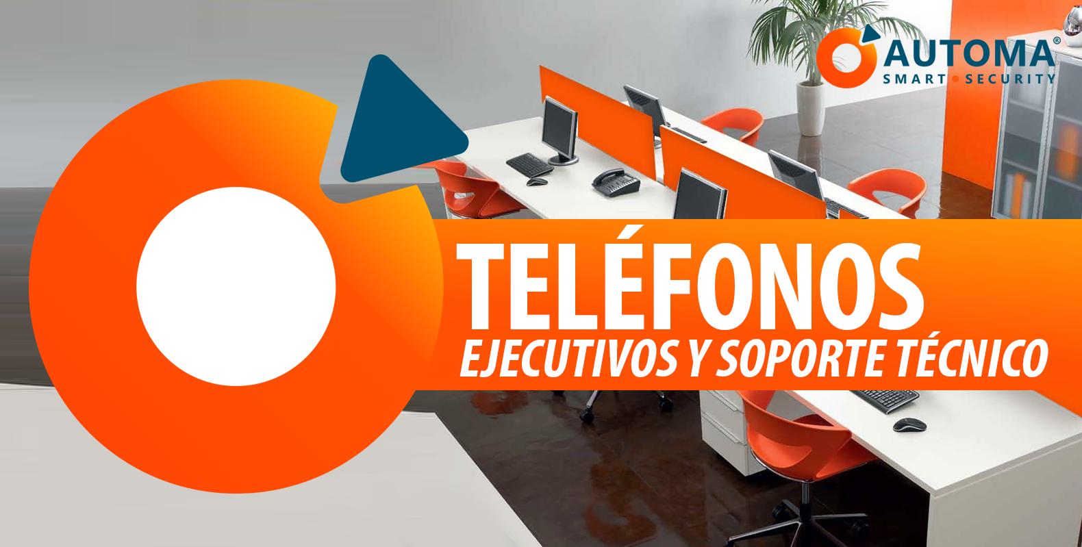Teléfonos de Ejecutivos de Venta y Soporte Técnico
